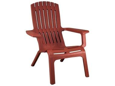 Grosfillex Westport Resin Barn Red Adirondack Chair GXUS450748