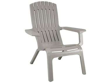 Grosfillex Westport Resin Barn Gray Adirondack Chair GXUS450766