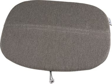 Grosfillex Ramatuelle 73'' Barstool or Arm Chair Seat Cushion in Gray GXUS941713