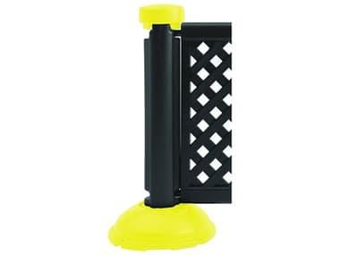Grosfillex Crowd Control Resin Black & Safety Yellow Fence Post & Interlocking Base GXUS960013