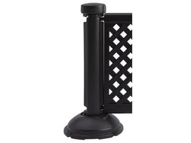 Grosfillex Crowd Control Resin Black Fence Post & Interlocking Base GXUS960117