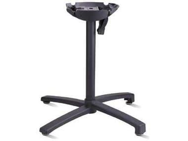 Grosfillex X1 Aluminum Black Tilt Small Table Base GXUSX15017