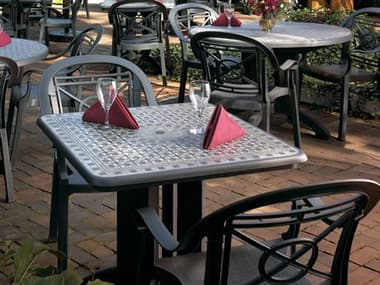 Grosfillex Victoria Resin Charcoal Dining Set GXVCTRIADINSET3