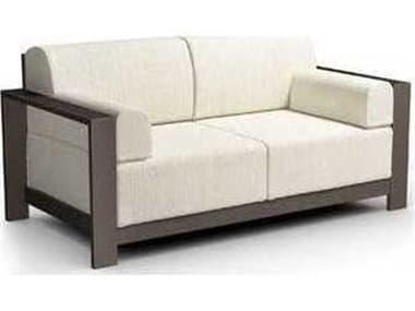 Homecrest Grace Cushion Aluminum Loveseat with Arm Pillows HC10421