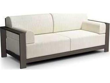Homecrest Grace Cushion Aluminum Sofa with Arm Pillows HC10431