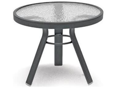 Homecrest Glass Aluminum 21'' Wide Round End Table HC17213