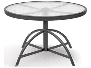 Homecrest Glass Aluminum 30'' Wide Round Adjustable Dining Table HC17304