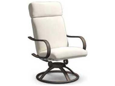 Homecrest Holly Hill Cushion Aluminum High Back Swivel Rocker Dining Arm Chair HC2292F
