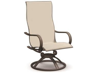 Homecrest Holly Hill Sling Aluminum High Back Swivel Rocker Dining Arm Chair HC2A900