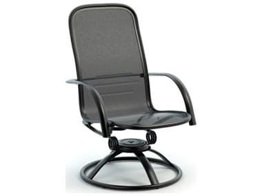 Homecrest Florida Mesh Aluminum High Back Swivel Rocker Dining Arm Chair HC2F900