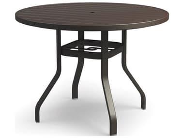 Homecrest Breeze Aluminum 48'' Wide Round Bar Table with Umbrella Hole HC3048RBR