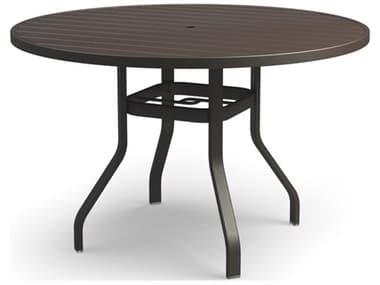 Homecrest Breeze Aluminum 54'' Wide Round Bar Table with Umbrella Hole HC3054RBR