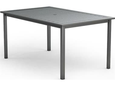 Homecrest Dockside Aluminum 70''W x 44''D Rectangular Counter Table with Umbrella Hole HC314470B