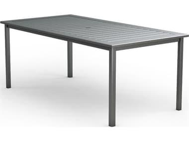 Homecrest Dockside Aluminum 87''W x 44''D Rectangular Counter Table with Umbrella Hole HC314487B