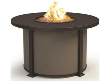 Homecrest Breeze Aluminum 36'' Wide Round Chat Fire Pit Table HC3436CBR