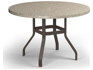 Homecrest Stonegate Aluminum 42'' Wide Round Counter Table HC3742RBSGNU