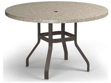 Homecrest Stonegate Aluminum 54'' Wide Round counter  Table with Umbrella Hole HC3754RBSG