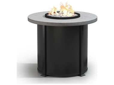 Homecrest Concrete Aluminum 42'' Wide Round Counter Fire Pit Table HC4642BCT
