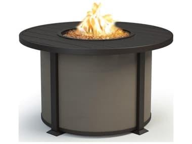 Homecrest Breeze Aluminum 42'' Wide Round Chat Fire Pit Table HC4642CBR