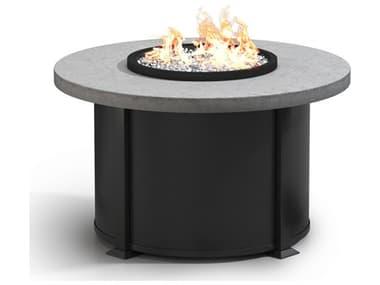 Homecrest Concrete Aluminum 42'' Wide Round Chat Fire Pit Table HC4642CCT