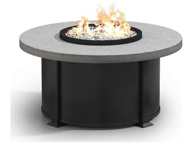 Homecrest Concrete Aluminum 42'' Wide Round Coffee Fire Pit Table HC4642LCT