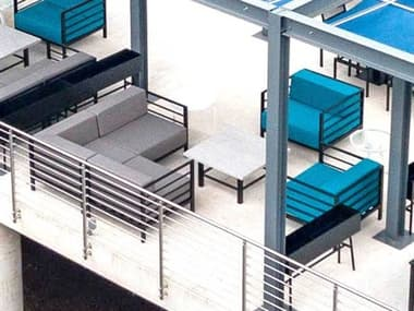 Homecrest Allure Modular Aluminum Sectional Lounge Set HCALLREMDLRLNGSET1