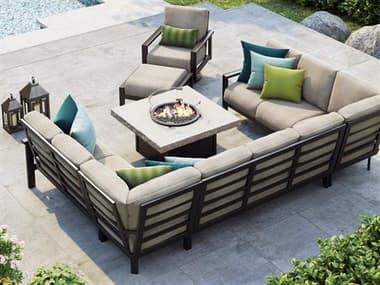 Homecrest Elements Modular Aluminum Sectional Fire Pit Lounge Set HCELEMNTSMDLRSECSET