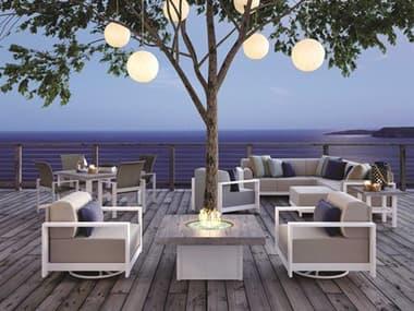 Homecrest Grace Cushion Aluminum Fire Pit Lounge Set HCGRACELOUNGESET5