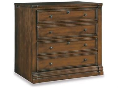 Hooker Furniture Cherry Creek Lightly Distressed Clear Medium Brown File Cabinet HOO25870416