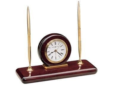Howard Miller Rosewood High Gloss Desk Set Round Clock HOW613588