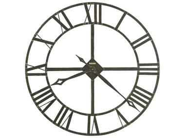 Howard Miller Lacy II 14'' Round Dark Charcoal Gray Wall Clock HOW625423