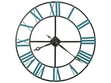 Howard Miller St. Clair Charcoal Gray & Silver Oversized Gallery Wall Clock HOW625574