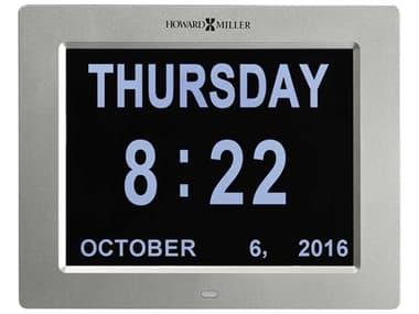 Howard Miller Memory Clock Satin Silver Wall Clock HOW625632