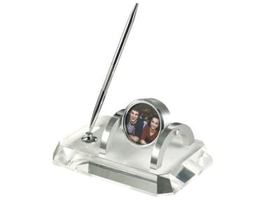 Howard Miller Prominence Desk Set Silver-Tone Bezel Stylish Clock HOW645724