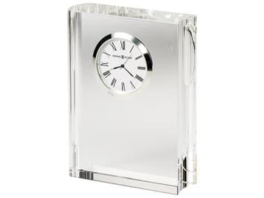 Howard Miller Scholastic Silver-Tone Optical Glass Crystal Clock HOW645782