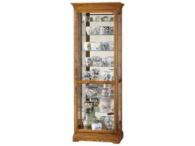 Howard Miller Chesterfield II Golden Oak Curio Cabinet HOW680288