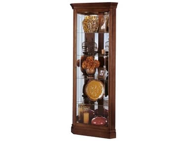 Howard Miller Lynwood Windsor Cherry Corner Curio Cabinet HOW680345