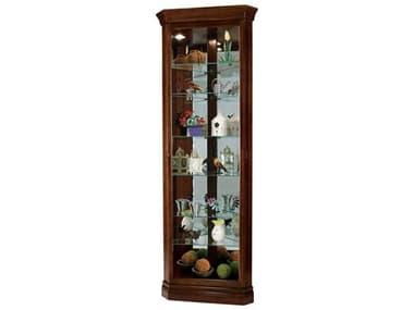 Howard Miller Drake Cherry Bordeaux Corner Curio Cabinet HOW680483