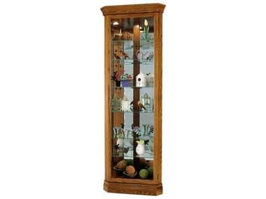 Howard Miller Dominic Legacy Oak Corner Curio Cabinet HOW680485