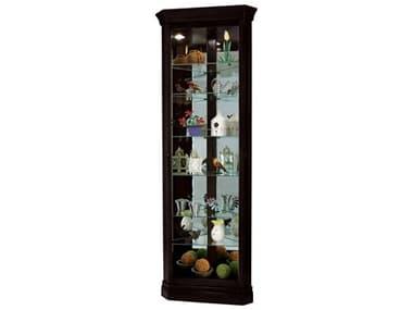 Howard Miller Duane Black Satin Corner Curio Cabinet HOW680487