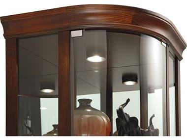 Howard Miller Marlowe Hampton Cherry Corner Curio Cabinet HOW680529