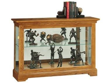 Howard Miller Burrows Golden Oak Display Curio Cabinet HOW680535