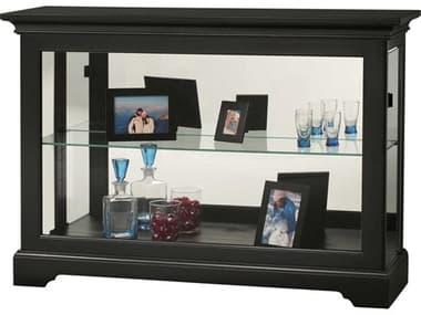 Howard Miller Underhill II Black Satin Display Curio Cabinet HOW680594