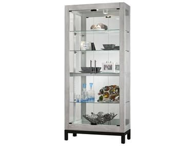 Howard Miller Quinn II Burnished Silver Curio Cabinet HOW680599