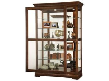 Howard Miller Kane Cherry Bordeaux Curio Cabinet HOW680625