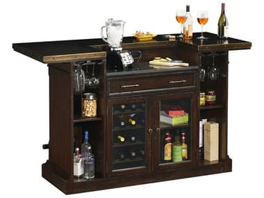Howard Miller Harbor Springs Rustic Hardwood Bar HOW693030