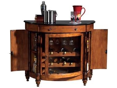 Howard Miller Merlot Valley Vintage Umber & Worn Black Wine & Bar Cabinet HOW695016