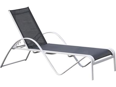 Hospitality Rattan Outdoor Ultra Grey Aluminum Chaise Lounge HP8902205GRYCL