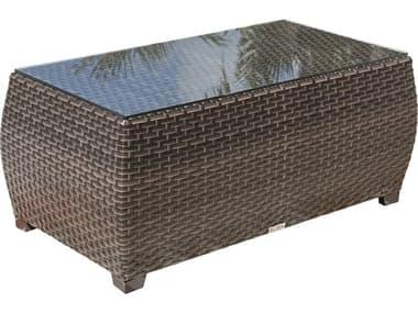 Hospitality Rattan Outdoor Fiji 46 Wide Wicker Rectangular Coffee Table HP9011347ATQCTGL
