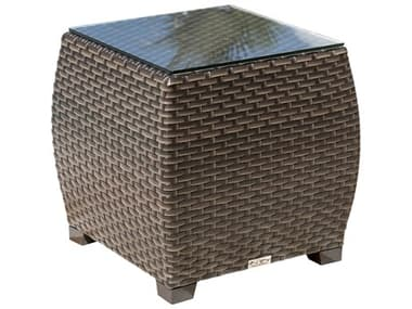 Hospitality Rattan Outdoor Fiji 22 Wide Wicker Square End Table HP9011347ATQETGL